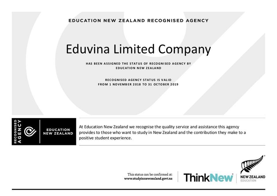 Eduvina Certificate