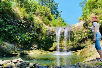 Oakley Creek Water Falls New Zealand