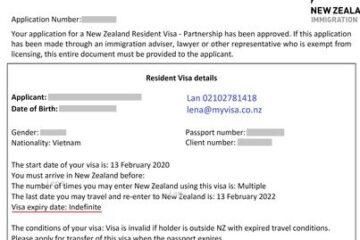 Chúc mừng bạn ở đảo Nam đã trở thành thường trú nhân NZ