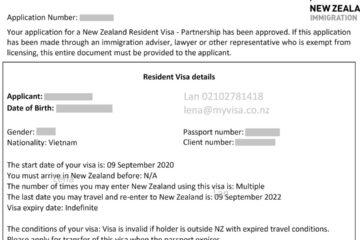 CHÚC MỪNG CHÀNG TRAI TRẺ ĐÃ CÓ THƯỜNG TRÚ NHÂN (NZ RESIDENT VISA)